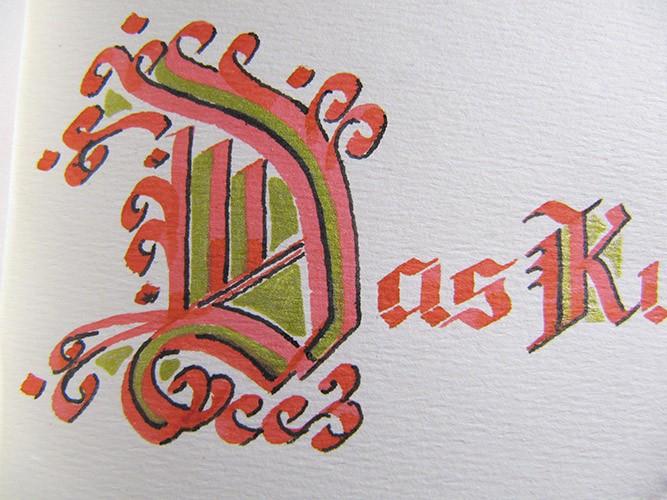 buchrestaurierung buch sixl Kalligraphie